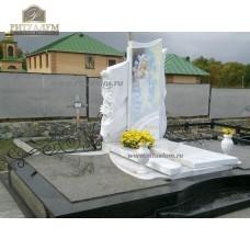 Памятник из белого мрамора № 6 — ritualum.ru
